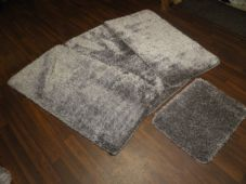 ROMANY GYPSY WASHABLE SPARKLY DESIGN SETS OF 4PCS MATS NEW GREY/SILVER NON SLIP